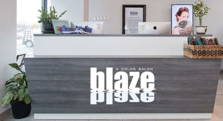Blaze Salon Front Desk